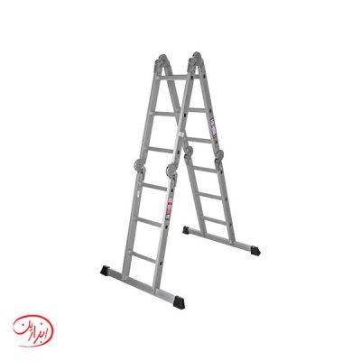 نردبان پله ای 4 تکه آلوم پارس پله مدل هارمونی (12 تا 32 پله)